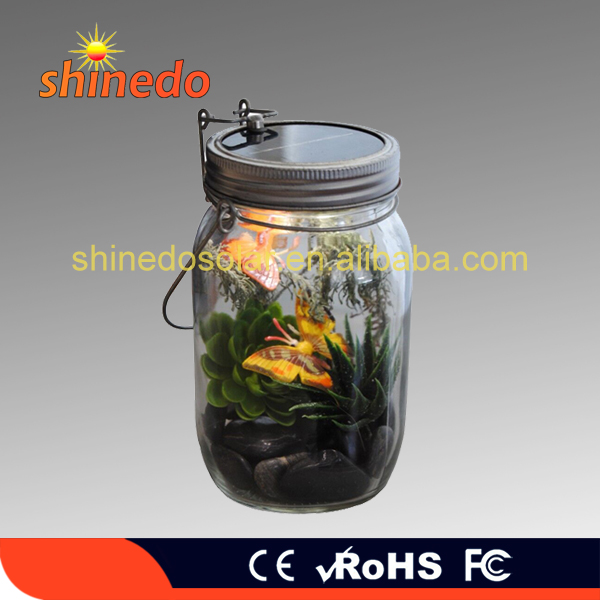 Solar Lid Light Wholesale Part - 48: Modern Wholesale Mason Hanging Decorative Solar Lids Clear Glass Jar Light  With Mental Hanger