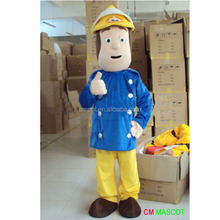 Good quality hot sale The fireman Sam cartoon costume for adult