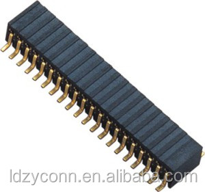 16 Pin Single Row Female header, pitch 1.27mm, Straight, SMD/SMT Female Socket