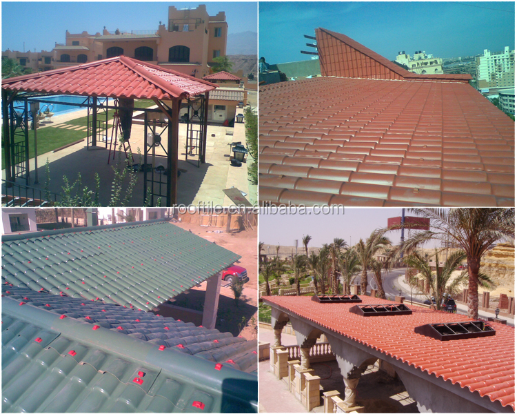 Weather Resistance Synthetic Resin Roofing Tile for Residential Building