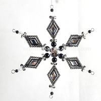 China Supplier acrylic snowflake ornaments decoration christmas large snowflake