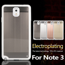 2 in 1 desgin pc electroplating + tpu case for samsung galaxy note 3 cover
