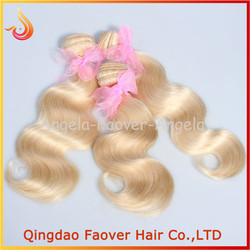 Factory wholesale 6A unprocessed 8-28 inches in stock platinum blonde human hair extension braiding