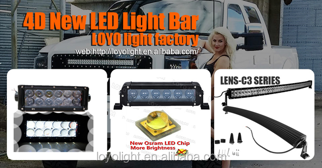 "Super bright 20"" led light bar offroad 120w curved led light bar"