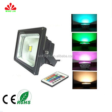 2015 hot-selling cheap price ip65 outdoor RF control rgb 50w multi color led reflector