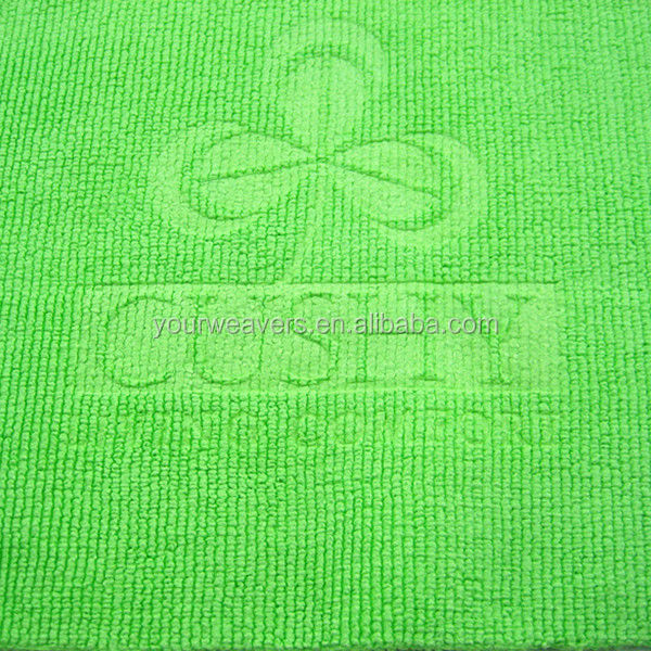 Logo Embossed Microfiber Cloth For Furniture Cleaning
