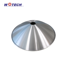 Metal carbon steel Q235 spinning outdoor brushed lamp cover