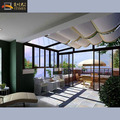 Double tempered glass veranda glass garden house
