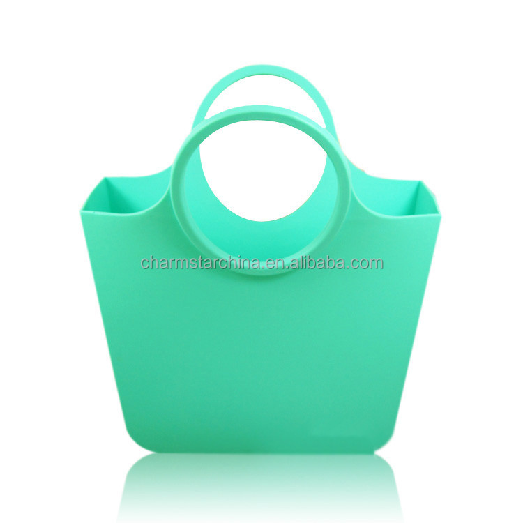 Different color flexible silicone handbag tote bag