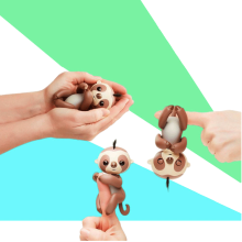 One Cent For Sample Colorful Interactive Baby Children Christmas Gifts Finger Fingertips Animal Fingertip Sloth <strong>Toys</strong>