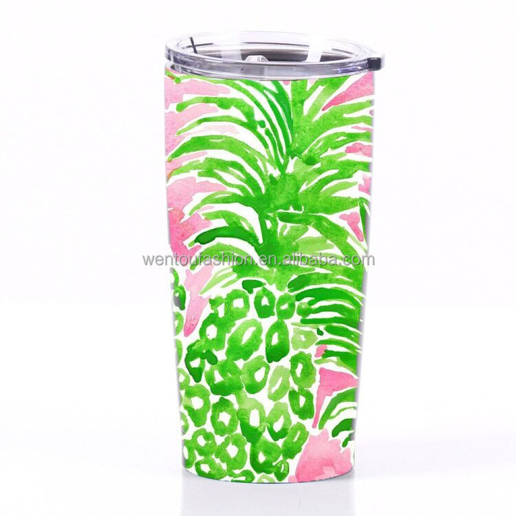 Personalized fruit print stainless steel 20OZ Pineapple Tumbler