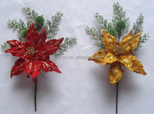 Artificial flowers colorful christmas decorations