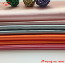 wholesale high quality soft spandex poly satin dull stretch polyester satin fabric