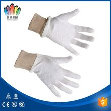 FT SAFETTY White 100% Cotton Lisle Knitted Wrist Inspector/Etiquette Glove