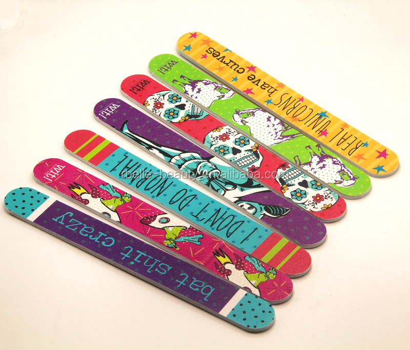Promotional high quality Logo Printed Customized Nail File