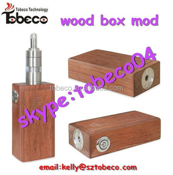 Tobeco hot selling wood box mod mechanical box mod wood box mod with high quality