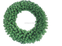 Top Grade Tinsel Classical Green PVC Artifical decorative Christmas Wreath