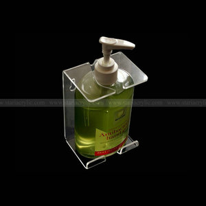 Wall mounted hand Sanitizer bottle Holder, Wall mount Acrylic Bracket Shelf for Hand Sanitizer Bottle,