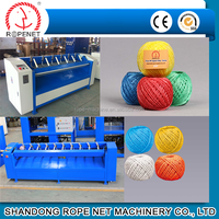 High speed plastic rope ball making/winding machine