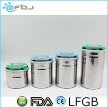 Airtight Stainless Steel Tea Coffee Sugar Canisters Sets