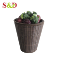 High quality supermarket rattan woven fruit and vegetable basket stand