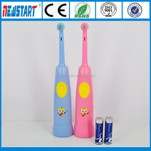 Custom music cartoon printing battery operated toothbrush
