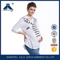 Fashion Korean Style Navy Striped Summer Wholesale Maternity Clothes