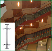 Home Design and Decor Interior Stainless Steel Glass Railing For Stairs