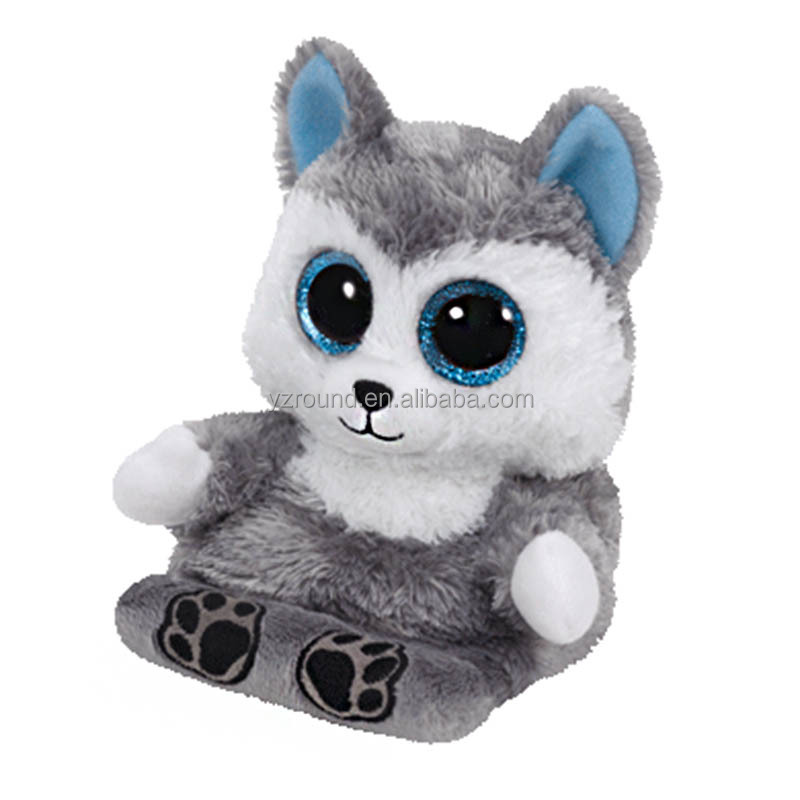 Plush Big Eyes Animal Sriese - Blue Leopard ! Beanie Boos, TY - Husky dog mobile phone seat