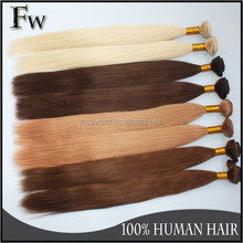 Factory price popular hair weaving remy russian blonde hair extensions