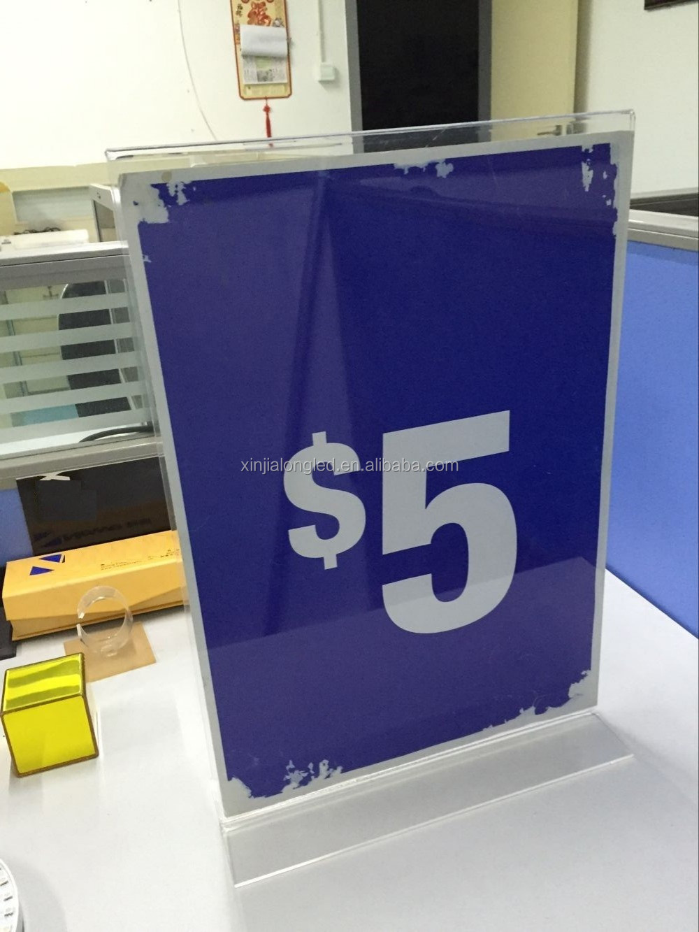 A3 A4 Clear Acrylic Menu Display Holder Perspex Sign Holder Acrylic Sign Display Stand