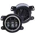 new product high power 4inch 30W round h4 LED Fog lights color changing angel/ devil eye projector headlight for jeep