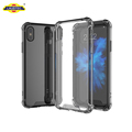2017 Laudtec Creative 1.5mm Tempered Glass Phone Cover Case For iPhone X,TPU Bumper Glass Phone Case