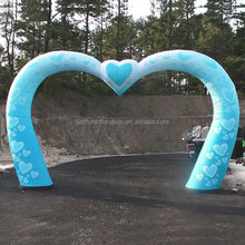 blue heart inflatable arch