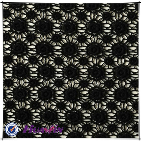 embroidery lace fabric is made by Saurer machine