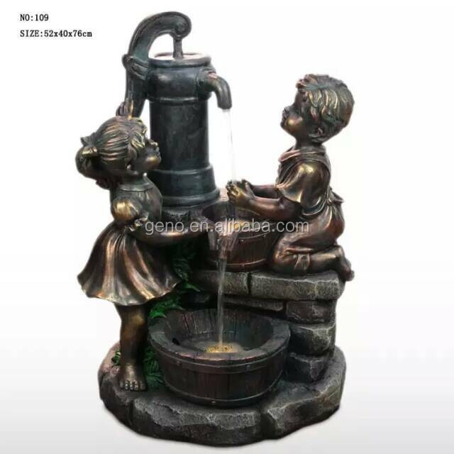Boy And Girl Statue Water Fountain