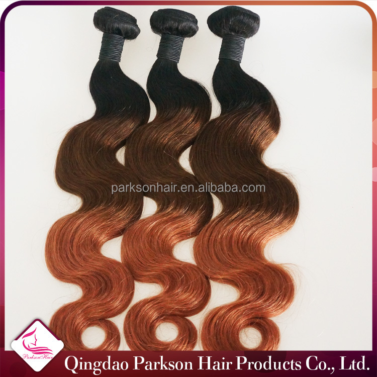 new products 2016 brazilian virgin hair three tone hair extension length from 12 to 20 inch in stock ombre hair weaves
