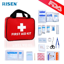 Wholesale professional medical bag for home outdoor travel camping,100 piece factory first aid kit