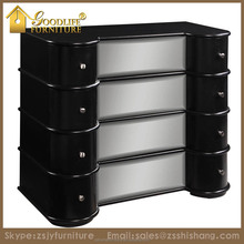 2016 New French Style Mirrored Chest of Drawers for Home Living Room Furniture