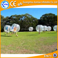 Outdoor playground clear inflatable human soccer bubble / buddy bumper ball for adult