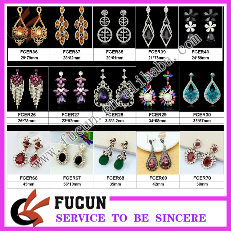 fashion dubai gold jewelry diamond earring designs new model earrings