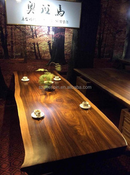 Big board solid wood table top/wood slab table/Okan Dining table/coffee table