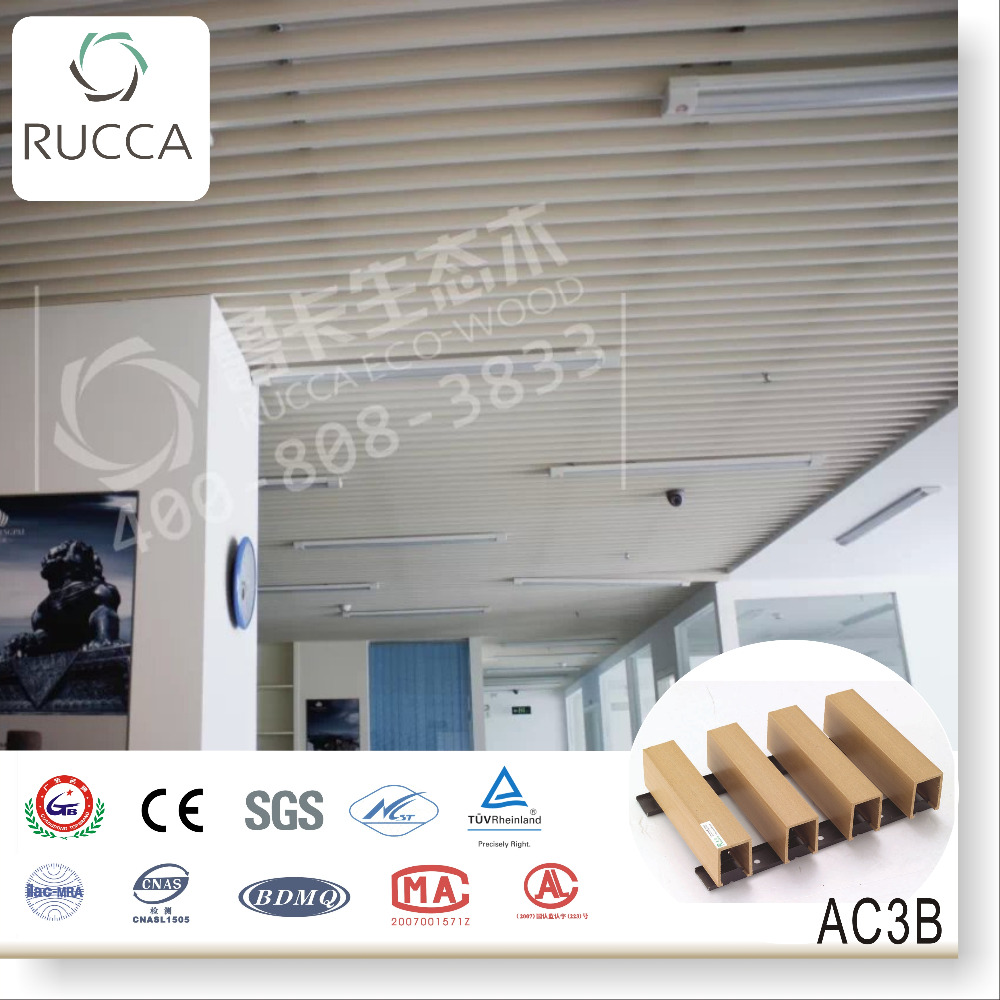 2018 Rucca Eco Wood exterior decorative ceiling 40*25mm decorative panel designer home decor China building materials supplier