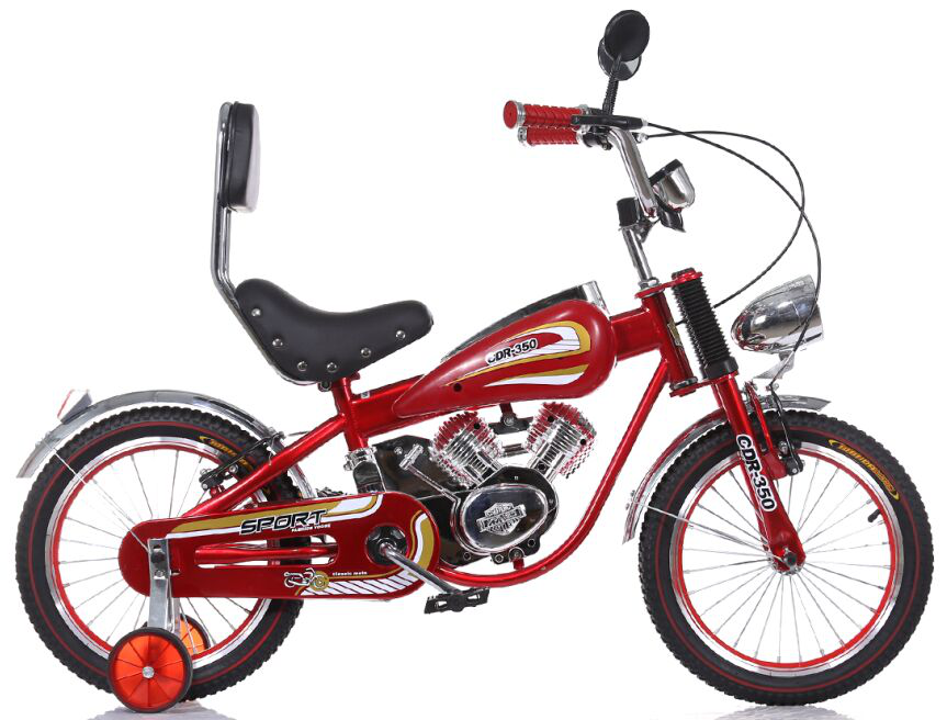 "Skillmax wholesale 16"" Moto Style Kids Bicycle/Kids Motorized Bikes/Kids Moto Bikes"