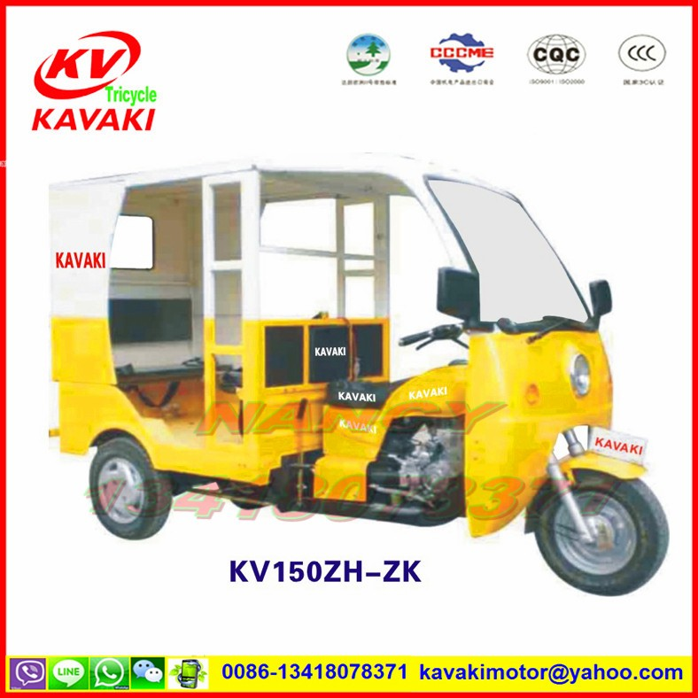 China guangzhou KAVAKI 150cc motorized 3 wheel motorcycle tuk tuk for sale mototaxi