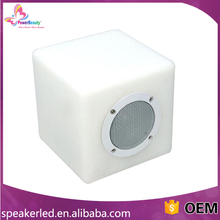 waterproof pool floating led bluetooth speakers in cube shape