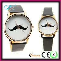 2016 new custom watch dial design with leather band welcome your wonderful design