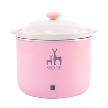 Kitchen appliances Innovative Ceramic Cooking Pot 0.8L Pink Slow Cooker