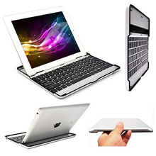 For iPad 2 3 4 Gen Aluminium Ultra Thin Bluetooth Wireless KeyBoard Stand Case