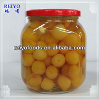 Canned jars cherries blue in syrup 4250ml in China with stem 2013